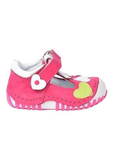 Kiko Kids Kiko Kids Teo 105 %100 Deri Orto pedik Cırtlı Kız Çocuk Ayakkabı Fuşya